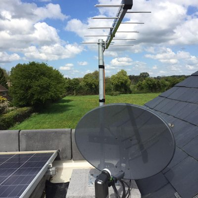 dish and aerial installed