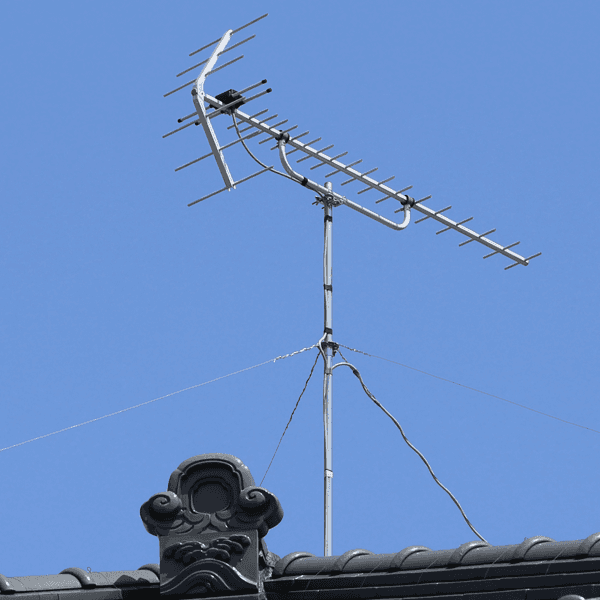 aerial installed on rooftop
