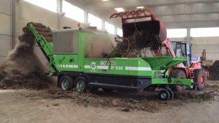 creazione tritatura rami per compostaggio