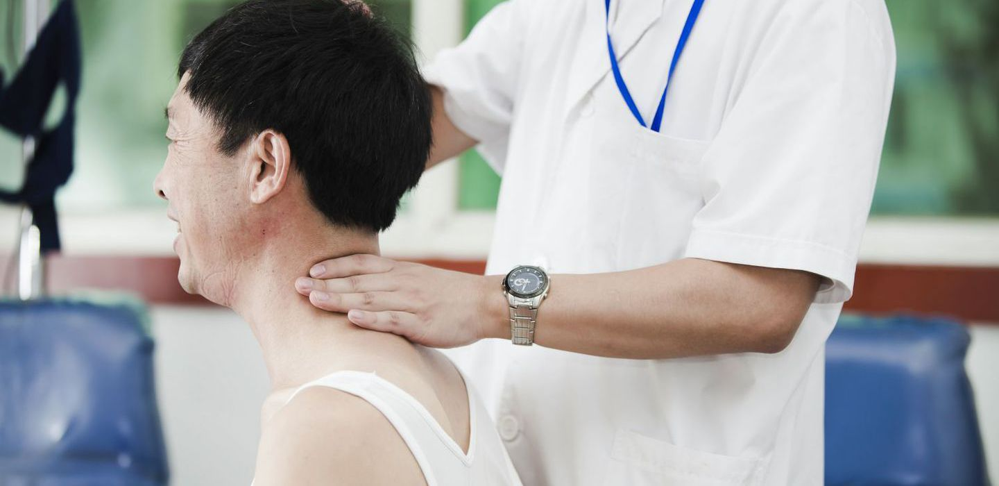 Man receives massage therapy from one of the chiropractors in Anchorage, AK