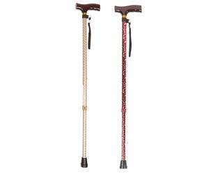 Assorted Coloured T-Handle Walking Stick