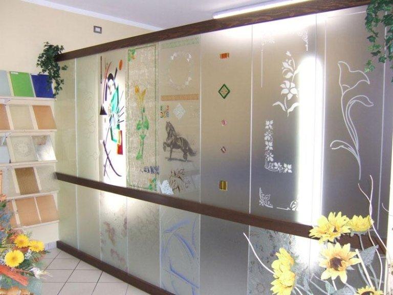 vetri decorati e lavorati
