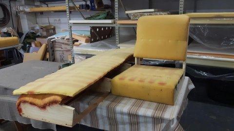 Scheletro poltrona e spalliera divano