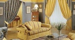 divani, tende di classe, tende stile classico