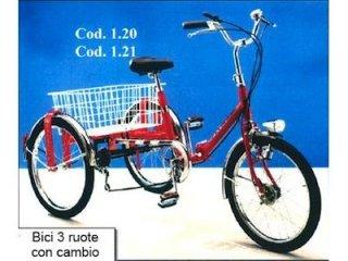 bici per disabili 3 ruote con cambio