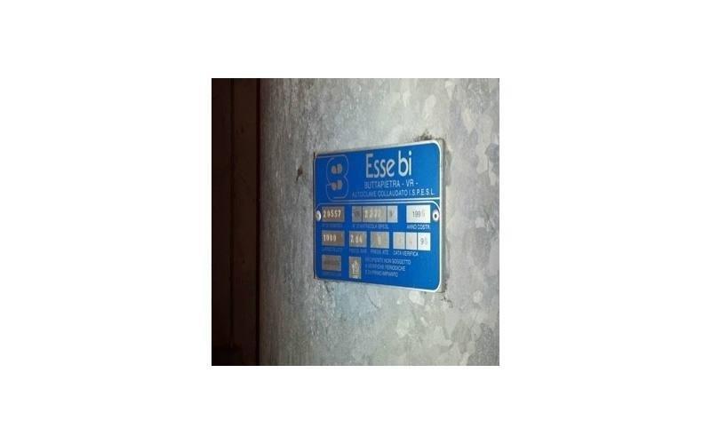 Lastra di certificazione installata nella caldaia
