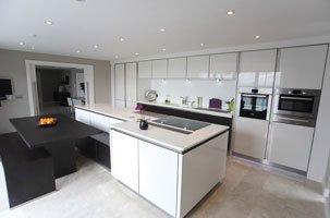 A stylish modern kitchen