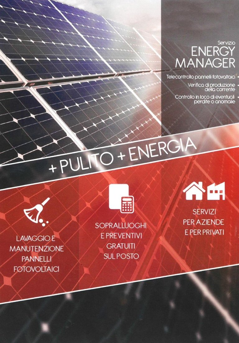lavaggio e manutenzione pannelli fotovoltaici verona