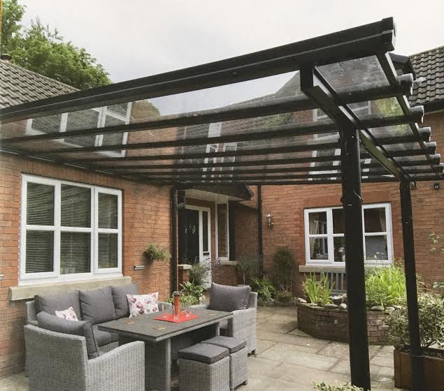 conservatory with patio furniture