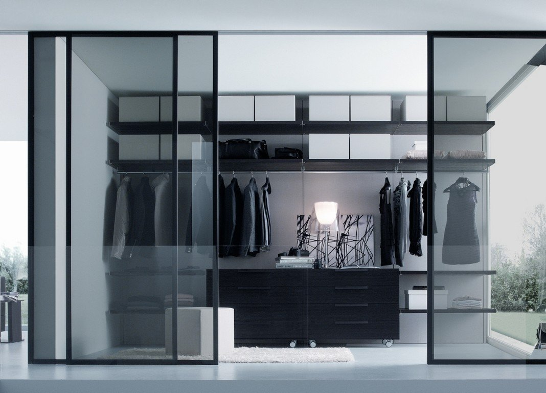 black and white wardrobe