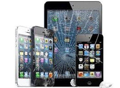 degli iPhone e degli iPad con lo schermo rotto