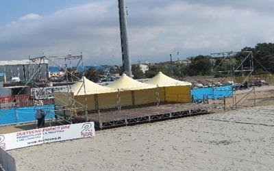 palco gazebo layher al beach stadium