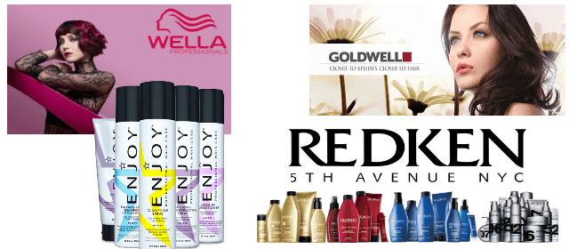 Wella, Goldwell, Enjoy, & Redken Hair care products