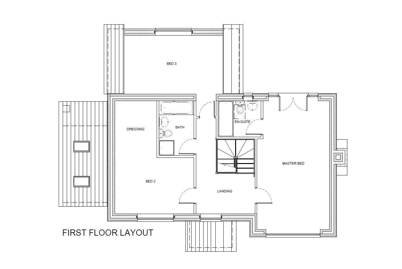 Large Rooms on First Floor Layout of Self Build Shropshire Home
