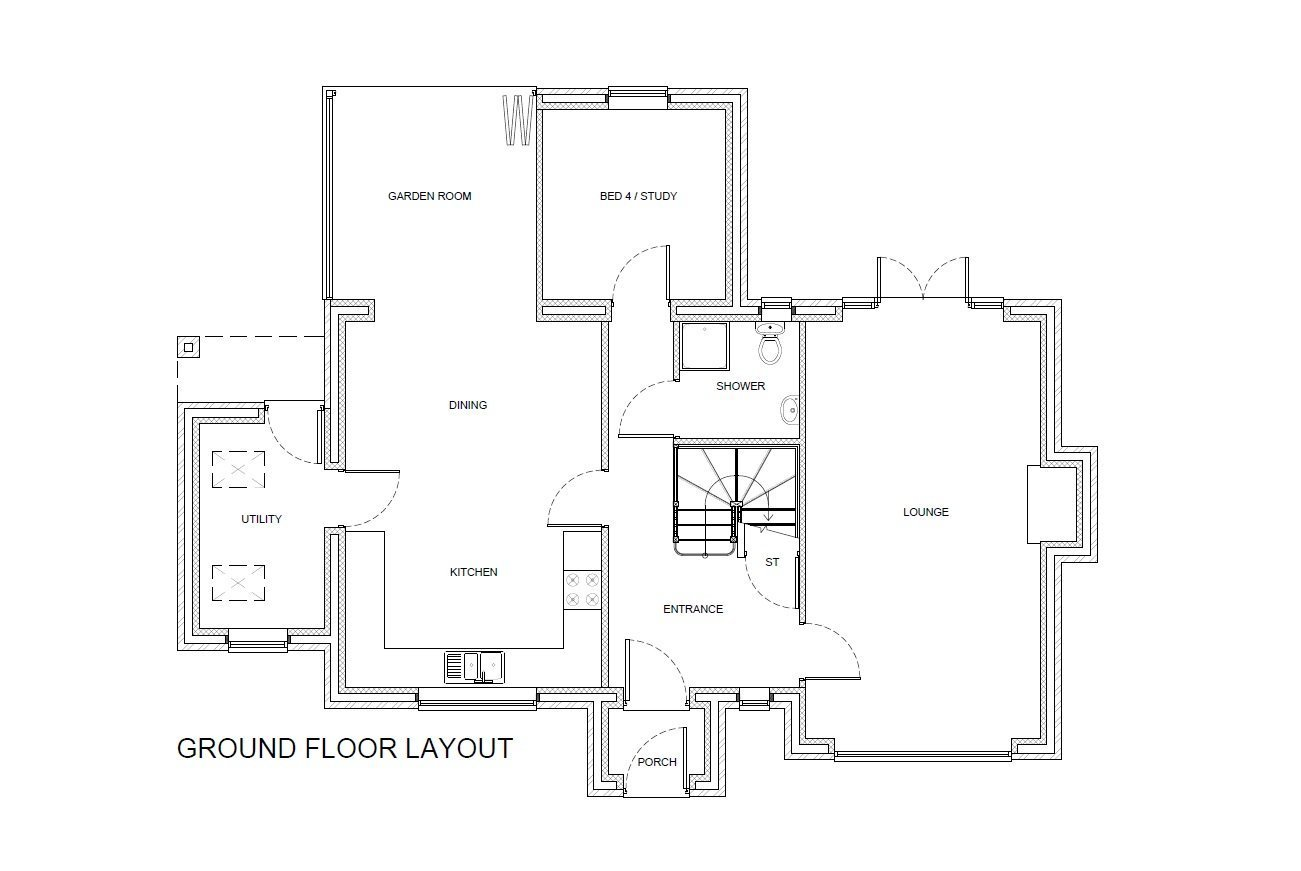 Spacious Ground Floor Layout of Self Build Shropshire Home