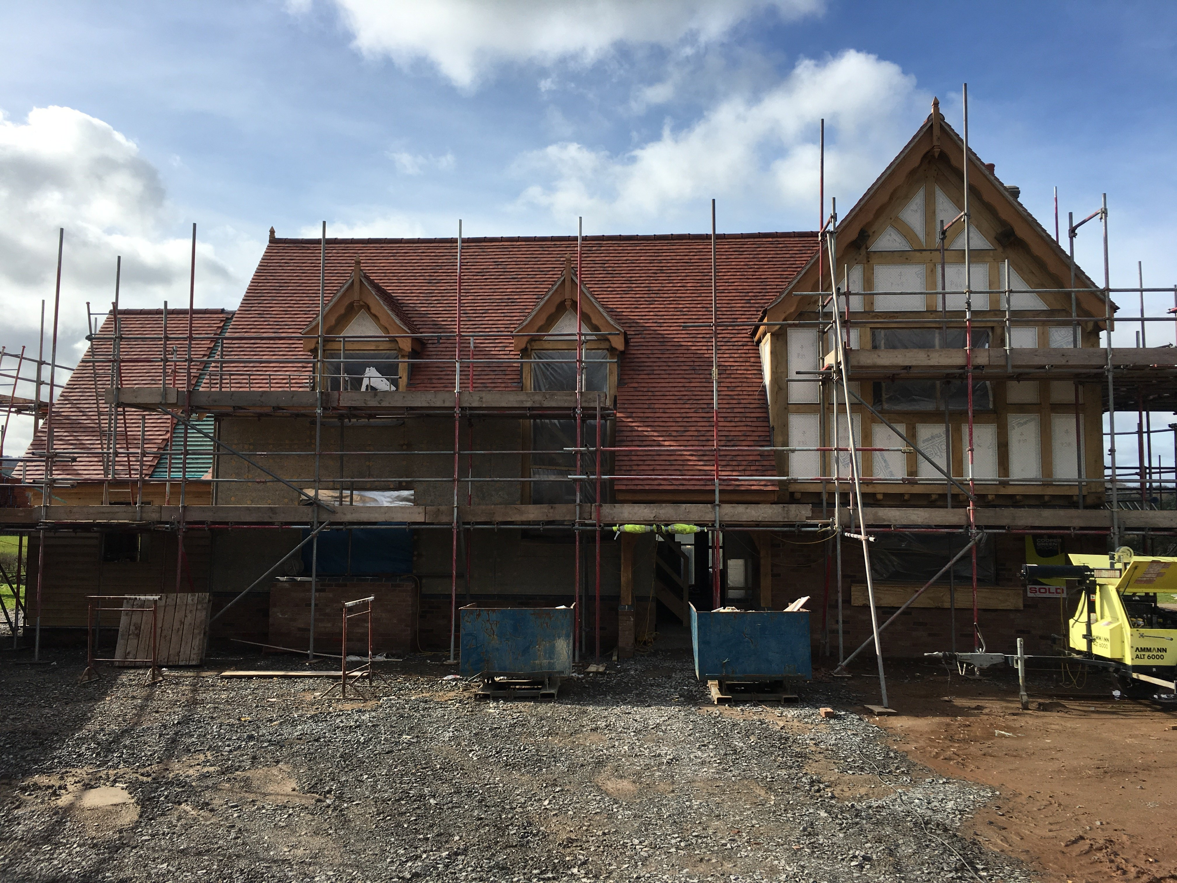 Tudor style luxury new build home for sale in Shrewsbury, Shropshire.  Building plots also for sale.