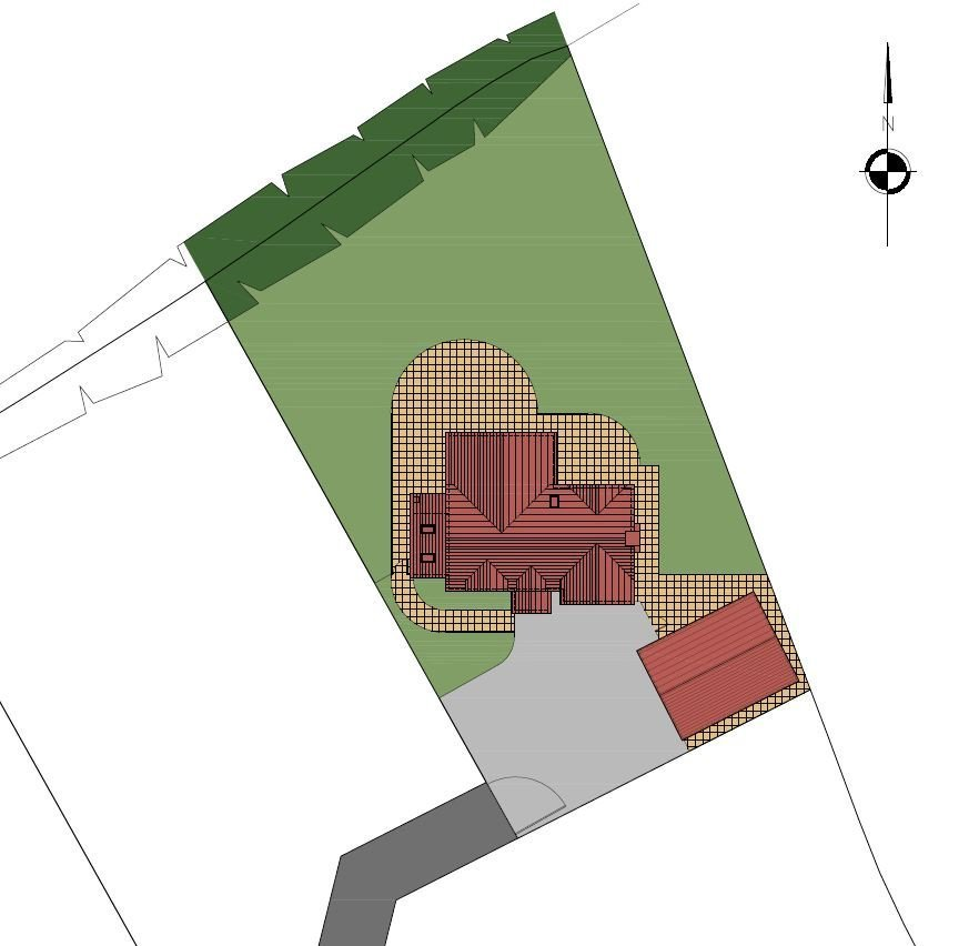 Large Plot for House and Garage Measuring Approx. 1/4 Acre