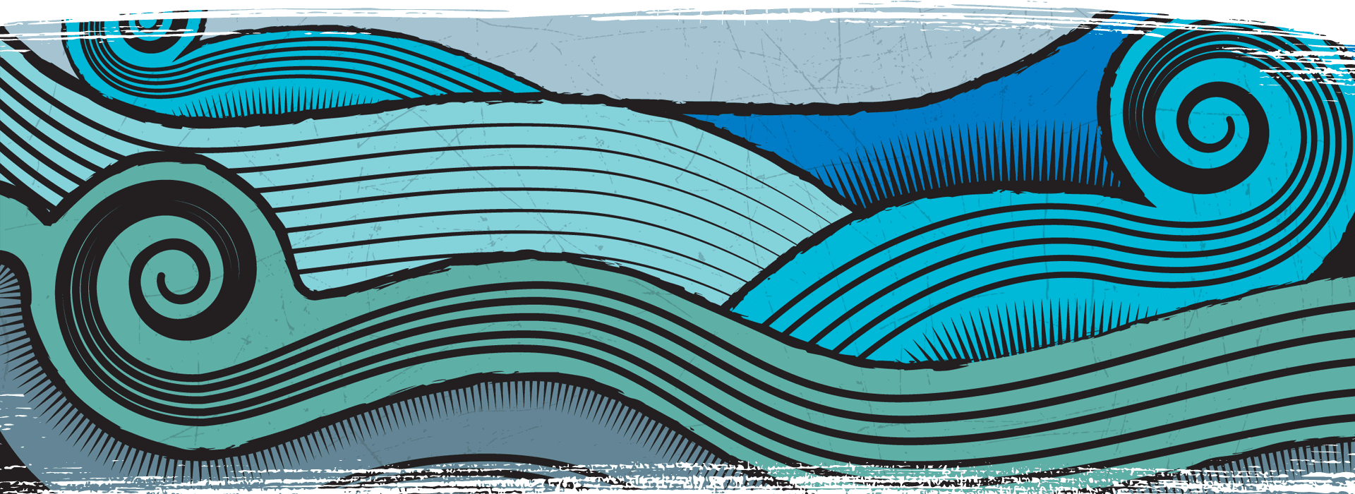 Blue decorative patterns