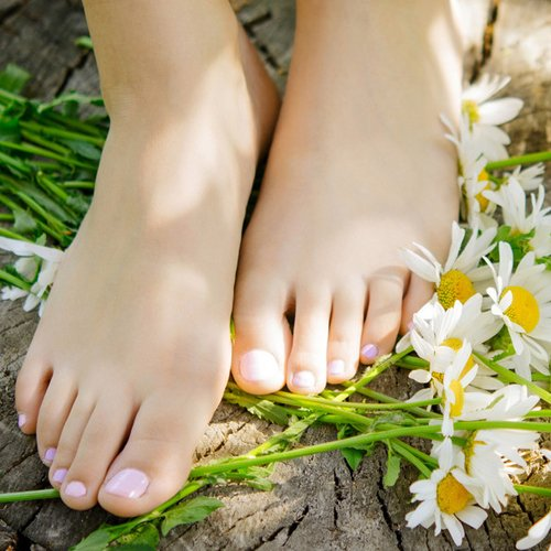 foot and flowers
