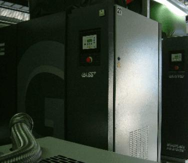 La ditta si occupa di impianti per la produzione di aria compressa.
