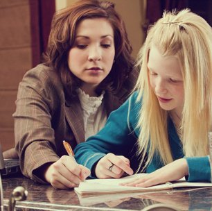 a student being tutored