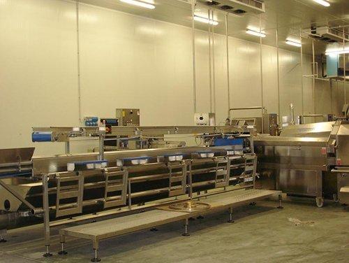 impianto elettrico industriale con macchinari