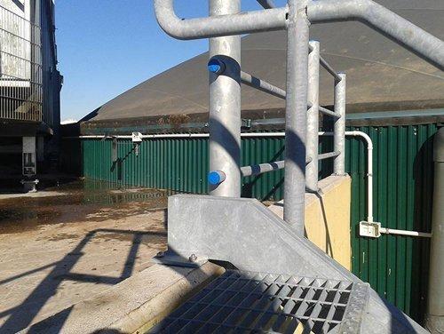 impianto elettrico agricolo con tubi