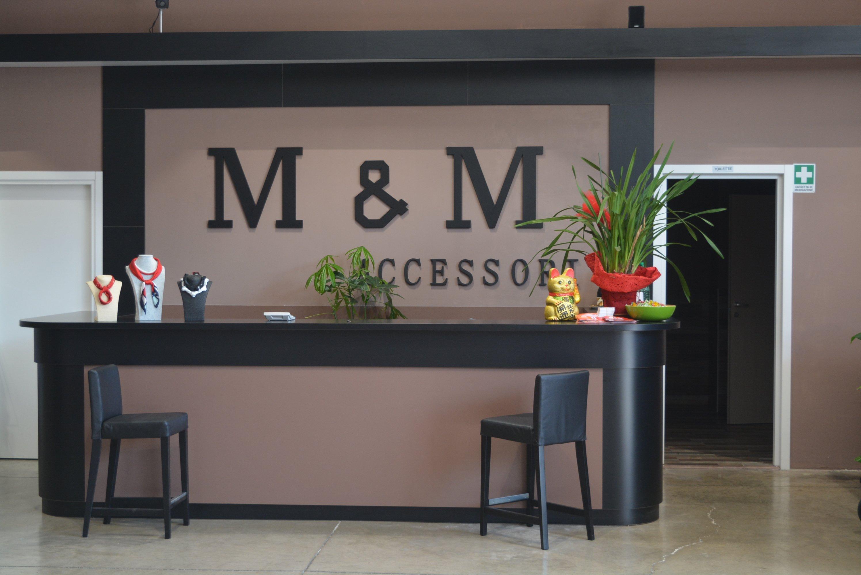 la reception del M&M Accessori