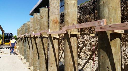 Excavation work in process