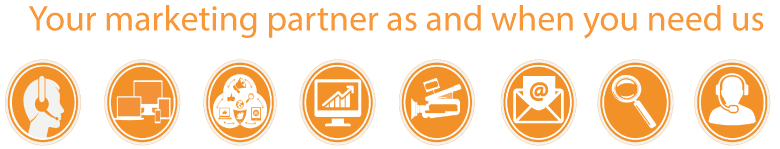Marketing partner as and when you need us