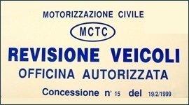 targa per autorizzazione revisioni auto
