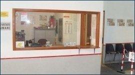 sala d'attesa di un'officina