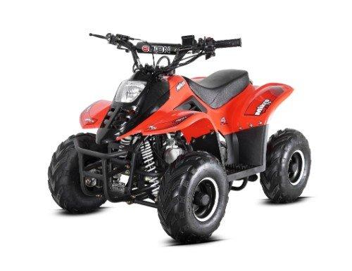 un quad arancione e nero