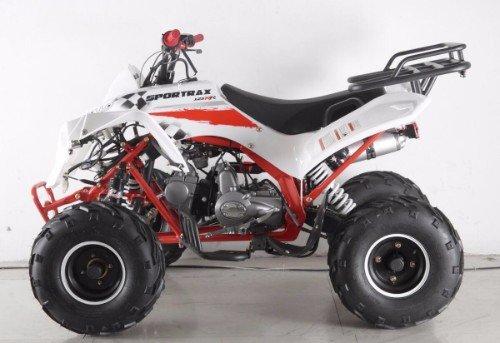 un quad rosso e bianco