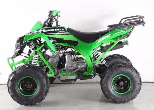un quad nero e verde