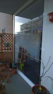 porta vetrata nel balcone