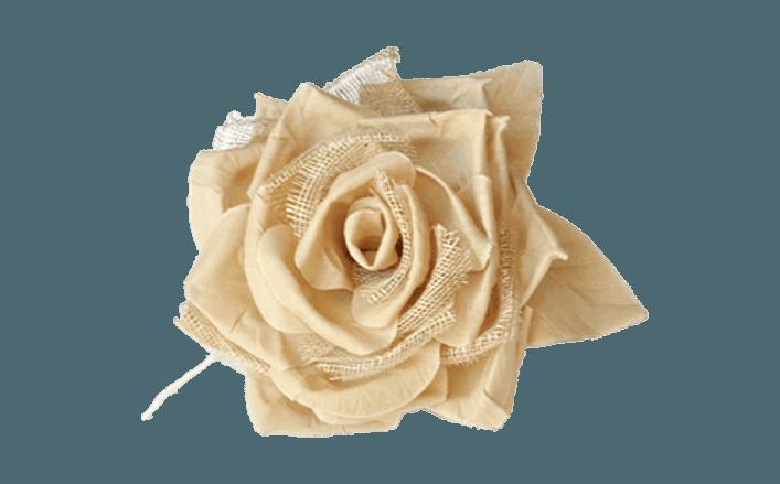 Rosa in cotone e sisal SUZANNE cm10