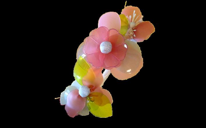 Cerchietto fiori in pvc GISELLA