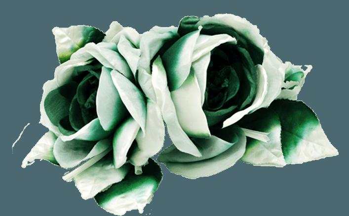 Rose in raso sfumato JOSHA cm14