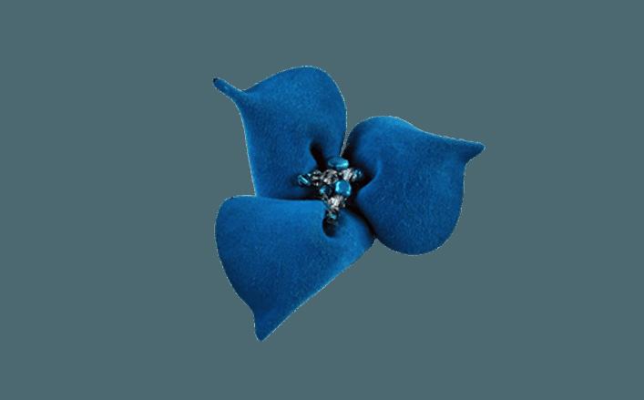 Fiore in camoscio con strass HIAPO cm06