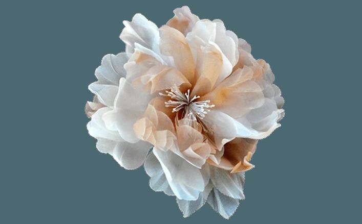 Peonia in organza LAKA cm14