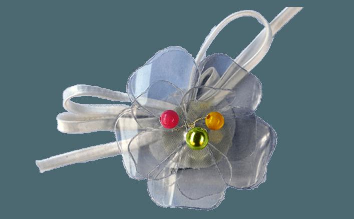 Fiore in pvc con accessori Lisa cm06
