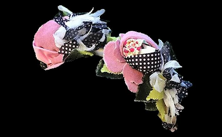 Cerchietto fiori in cotone QUIETA