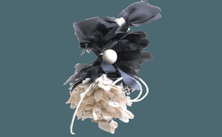 Cerchietto fiori in cotone e sisal GEORGIA
