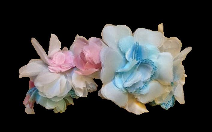 Cintina di fiorellini in organza KATIFE