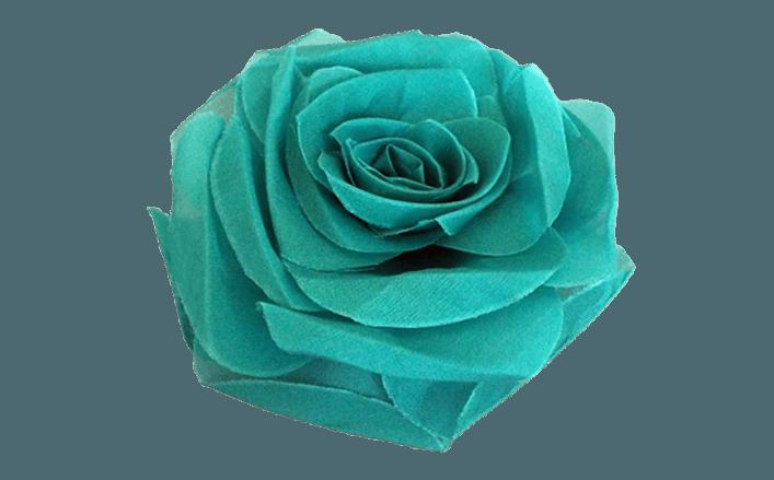 Rosa in organza SARAH cm8