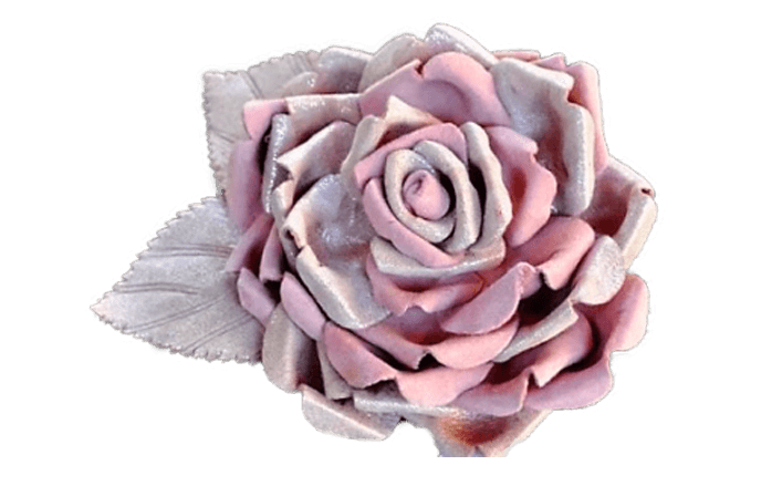 Rosa in pelle JUNA cm06