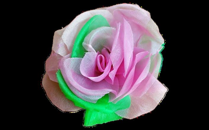Rosa in organza bicolore YURIKO cm07