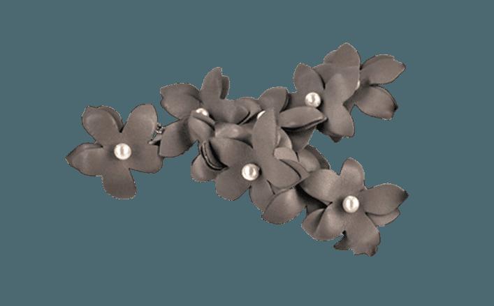 Composizione per calzature con perle cm12