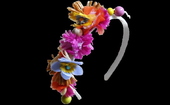 Cerchietto fiorellini di organza GERALDINE